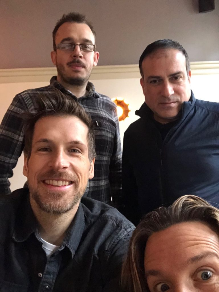 Johnny, Jack, Giles and CJ on the filmmakers podcast
